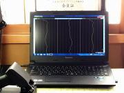 背骨の両脇の温度の測定器の画面