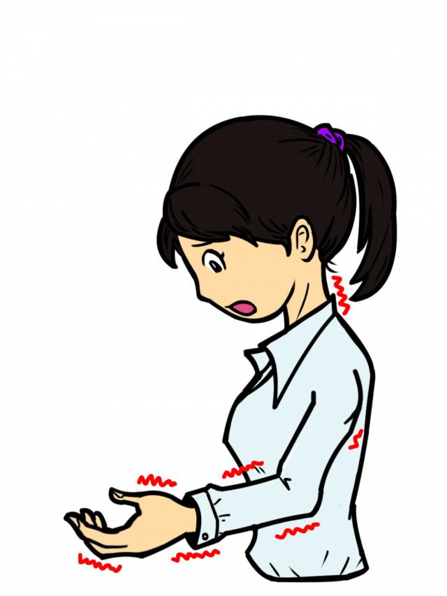 腕のしびれのイメージ図